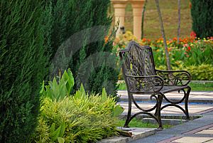 Garden Chair Stock Photos - Image: 15802563