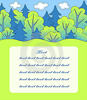 Cartoon Forest. Stock Photography - Image: 15806652