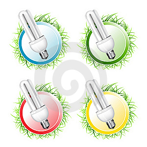 Economical Bulb Vector Collection Royalty Free Stock Image - Image: 15806766