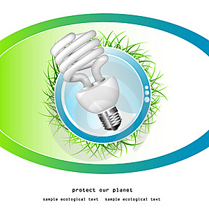 Economical Bulb Vector Illustration Royalty Free Stock Photos - Image: 15806768