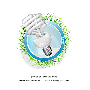 Economical Bulb Vector Illustration Stock Photography - Image: 15806772