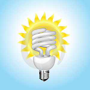 Economical Sunny Bulb Vector Illustration Royalty Free Stock Image - Image: 15806776