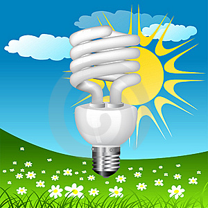 Economical Bulb Vector Illustration Stock Image - Image: 15806781