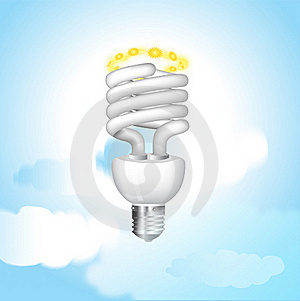 Economical Sunny Bulb Vector Illustration Stock Photography - Image: 15806782
