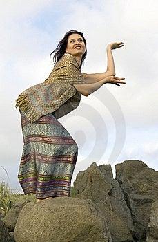 Thai Dance On Stones Stock Photos - Image: 15807223