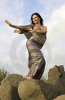Thai Dance On Stones Stock Photography - Image: 15807232