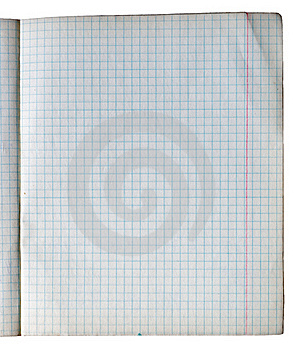 Old Checked Copy Book Sheet Royalty Free Stock Photo - Image: 15807345