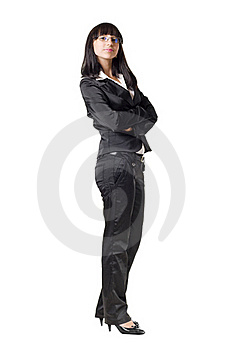 Businesswoman Folding Her Arms Stock Photo - Image: 15807480