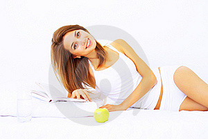 Girl Resting On The Bed Stock Photo - Image: 15807910