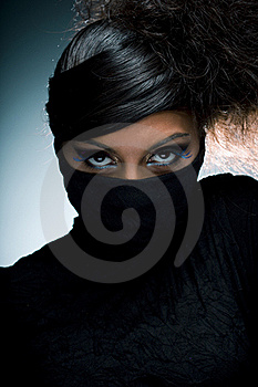 Woman Portrait With Multicolored  Make-up Stock Image - Image: 15810041