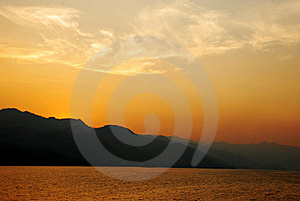 Last light. Royalty Free Stock Photo
