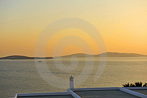 Sunset In Mykonos Stock Photos - Image: 15810483