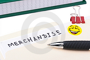 Merchandise Folder Royalty Free Stock Photography - Image: 15811047