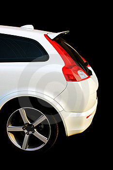Isolated White Sport Car Stock Photography - Image: 15811462