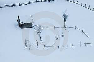 Abstract Farm In Winter Stock Photos - Image: 15812323