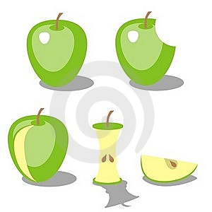 Apple Color 02 Royalty Free Stock Photography - Image: 15812347