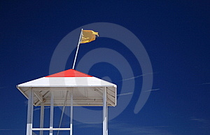 Yellow Caution Flag Stock Photography - Image: 15813612