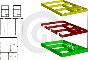 Vector Illustration The Color Drawing Of The House Royalty Free Stock Images - Image: 15813819