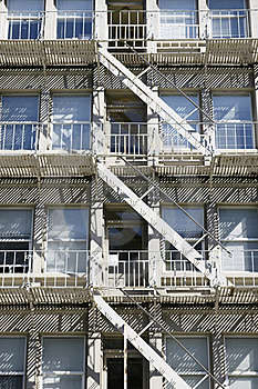 Apartment Building Fire Escape Stairs Stock Photo - Image: 15817420