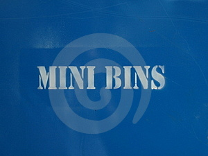 Mini Bins Royalty Free Stock Image - Image: 15817536