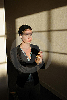 Young Woman Praying Stock Photography - Image: 15818392