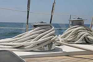 Sailboat Winches  Royalty Free Stock Images - Image: 15819649
