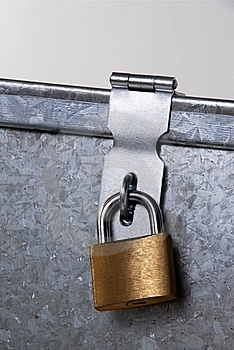 Metal Padlock Closure Stock Image - Image: 15820831