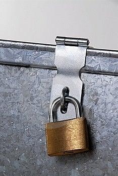 Metal Padlock Closure Stock Image - Image: 15820831