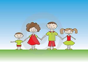 Happy Family Royalty Free Stock Image - Image: 15822706