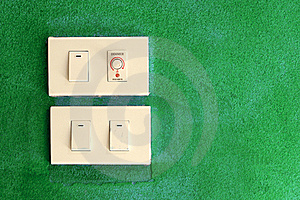 Light Switch On Green Stock Photos - Image: 15823163