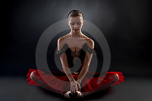 Beautiful Ballerina Sitting Stock Photo - Image: 15824440