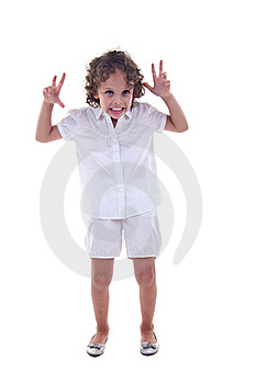 Girl Making A Funny Face Royalty Free Stock Images - Image: 15824579