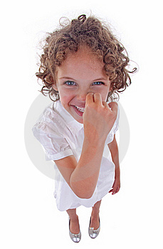 Girl Picking Her Nose Stock Image - Image: 15824581