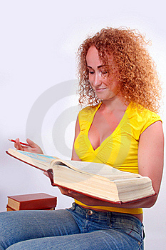 Studying Happy Young Woman Royalty Free Stock Image - Image: 15829686