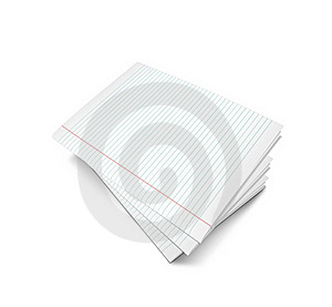 3d Illustration Oflined Notebook Royalty Free Stock Photography - Image: 15830627