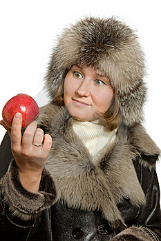 Apple And Winter Royalty Free Stock Photo - Image: 15831575