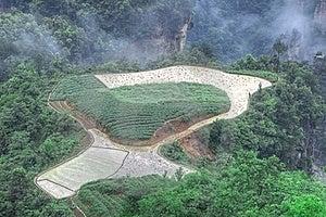 Zhangjiajie National Park, Sky Farmland Royalty Free Stock Image - Image: 15832286