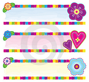 Floral Banners Royalty Free Stock Images - Image: 15833049