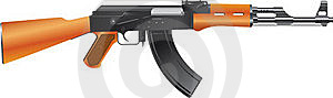 Automatic Assault Rifle Royalty Free Stock Image - Image: 15834106