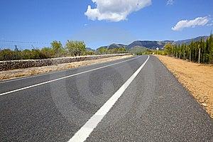 Highway Across Non-urban Landscape Royalty Free Stock Photos - Image: 15835048