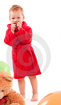 Boy Paying With Balloon Royalty Free Stock Photography - Image: 15837707