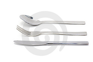 Fork, Spoon And Knife Royalty Free Stock Image - Image: 15838546