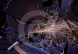 Cutting Metal Royalty Free Stock Image - Image: 15841136