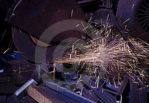 Cutting Metal Royalty Free Stock Image - Image: 15841136