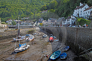 Lynmouth Harbour Royalty Free Stock Photography - Image: 15843757