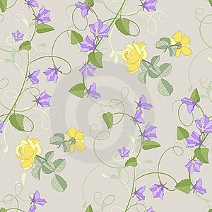 Roses And Bluebells Flowers Royalty Free Stock Images - Image: 15847009