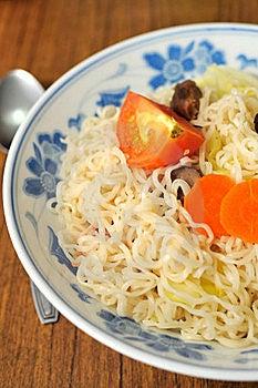 Vegetarian Noodles Stock Image - Image: 15851521
