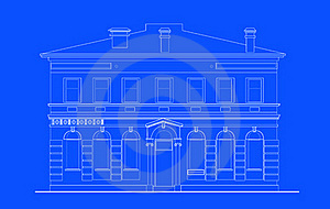 Heritage Mansion Building Print Royalty Free Stock Photos - Image: 15851618