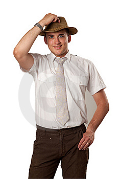 Man In A Hat Royalty Free Stock Image - Image: 15853896