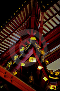 Chinese Temple's Curved Roof Stock Photography - Image: 15854052